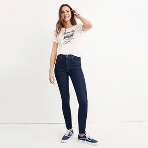 """NWT Madewell 10"""" High Rise Skinny In Lucille Wash"""